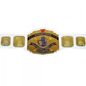 WWF Intercontinental Championship Wrestling Leather Replica Adult Belt White