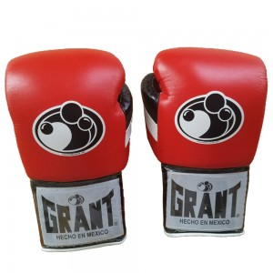 Grant Boxing Gloves Pro Fight with Laces Red 14oz