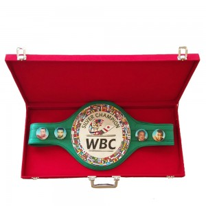 WBC Championship Boxing Silver Champion Belt 3D Replica Original Leather Adult with Box