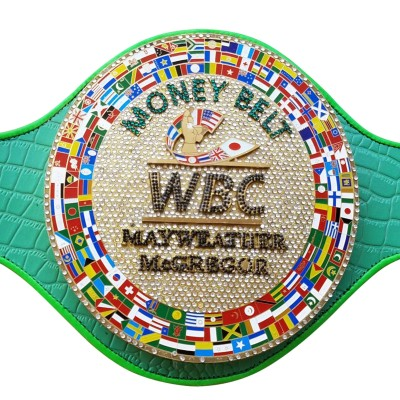 WBC MONEY Belt Fight MAYWEATHER MCGREGOR Adult Replica Title