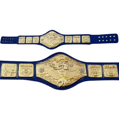 WWWF Backlund Wrestling Championship Replica Belt Thick Plated 8mm Adult