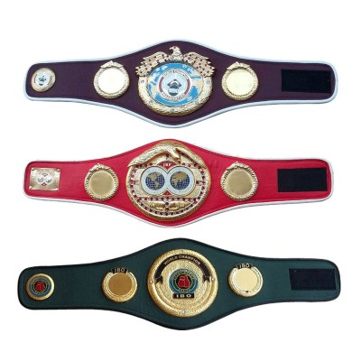 WBO IBF IBO Championships Boxing Belt Replica Mini 3 Belts set