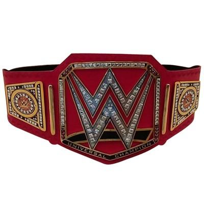 WWE Universal Champion Belt Adult Replica Genuine Leather Title Belts Zinc Alloy & Brass