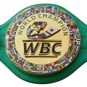 WBC 3D Championship Boxing Belt Leather Replica Adult