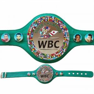 WBC Championship Boxing Silver Champion Belt 3D Replica Original Leather Adult