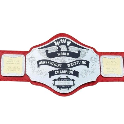 WWF Hulk Hogan 84 World Heavyweight Wrestling Championship Belt Adult Red