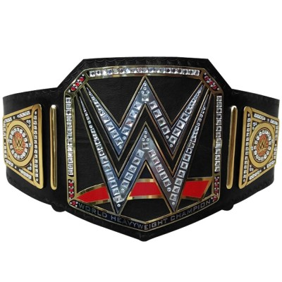 WWE World Heavy Weight Championship Belt Adult Replica Genuine Leather Title Black